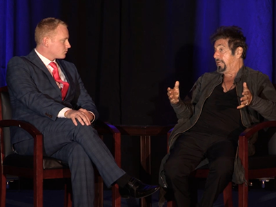 Adam Stott and Al Pacino