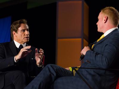Adam Stott and John Travolta