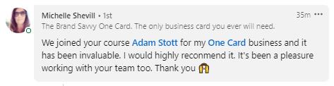Adam Stott Review - Michelle